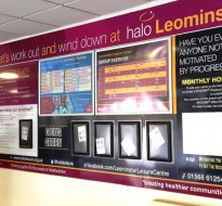 noticeboard with poster frames