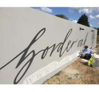 Border Oak hoarding sign
