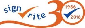 Sign-Rite 30th logo