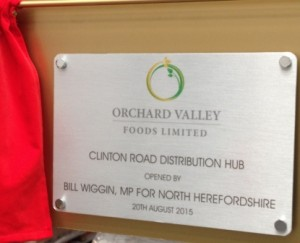 Orchard Valley Foods Ltd Signage
