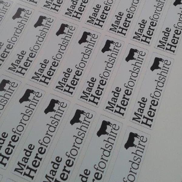 Herefordshire Made stickers