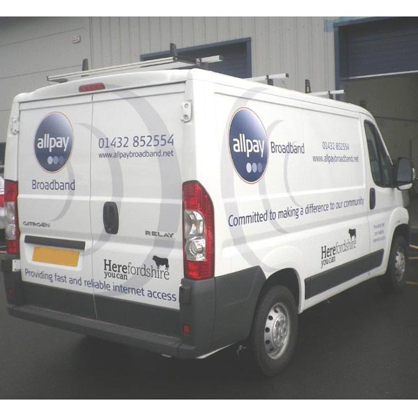Allpay delivery van signage