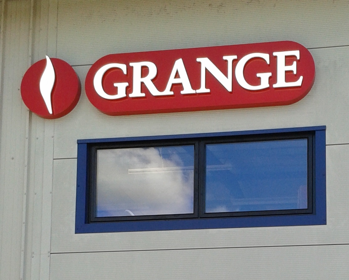 LED illuminated signage - Grange Heating