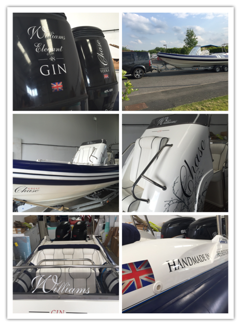 Williams Gin boat livery