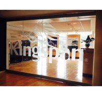 reception door and interior graphics