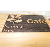 eco 3D carved-effect sign