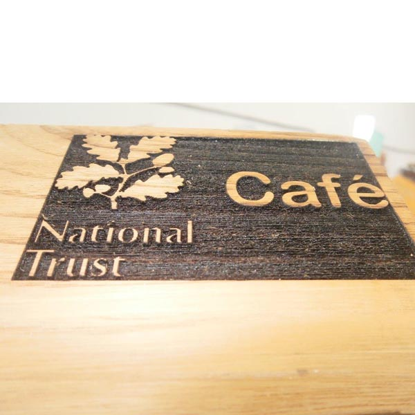 Eco signage - National Trust Wood Engraving