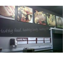 school dining room interior signage