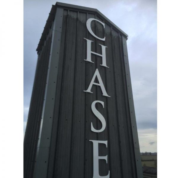 3D lettering - Working at Heights - Chase distillery
