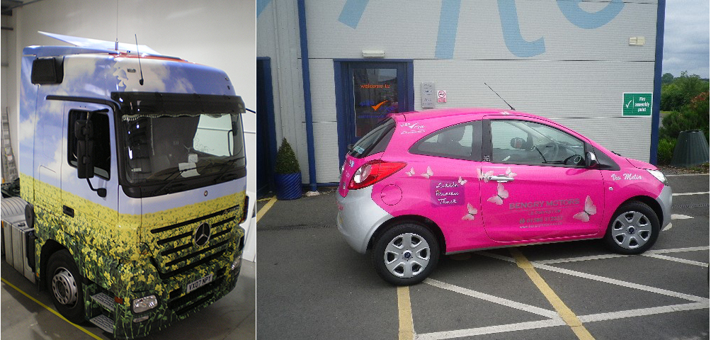 Vinyl wrapping vehicles